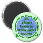 Go Green Fridge Magnet