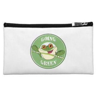 Go Green Frog Cosmetic Bag