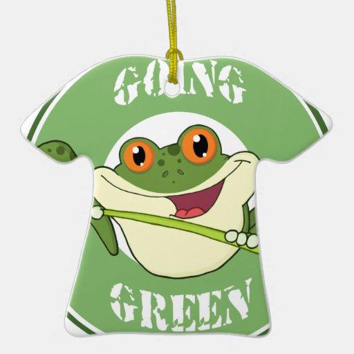 Go Green Frog Christmas Ornaments