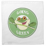 Go Green Frog Cloth Napkin
