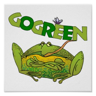 Go Green Frog Ecology Poster print