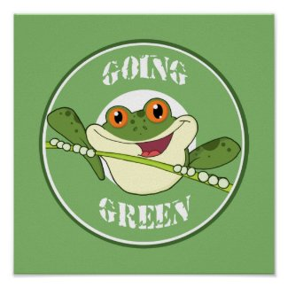 Go Green Frog print