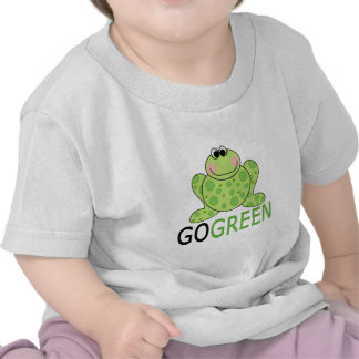 GO GREEN Frog T-shirts