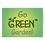 Go Green, Garden Greeting Cards