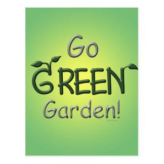 Go Green, Garden Postcard