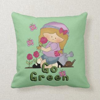 Go Green Garden Throw Pillow