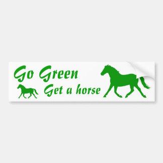 Go Green,  get a horse Bumper Sticker