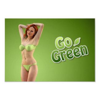 Go Green Girl Belle 3.5x5 Paper Invitation Card