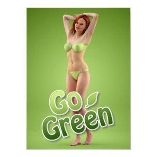 Go Green Girl Belle 5.5x7.5 Paper Invitation Card
