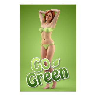 Go Green Girl Belle Flyers