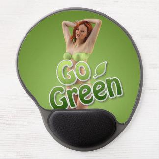 Go Green Girl Belle Gel Mouse Pads