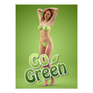 Go Green Girl Belle Invitations