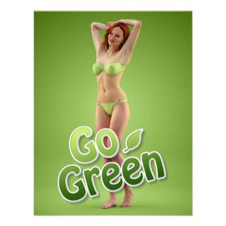 Go Green Girl Belle Personalized Invitation