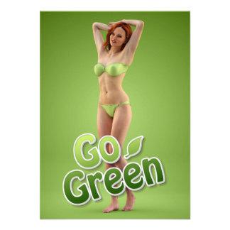 Go Green Girl Belle Personalized Invite