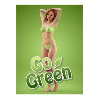 Go Green Girl Belle Invite
