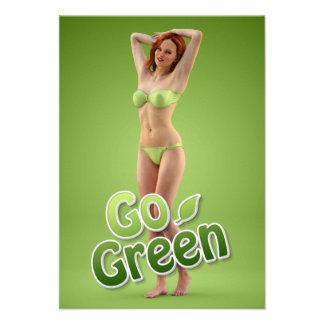 Go Green Girl Belle Invitation