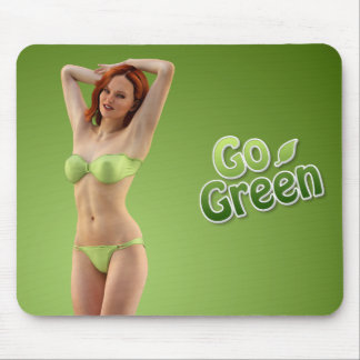 Go Green Girl Belle Mouse Pad