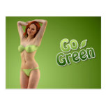 Go Green Girl Belle Post Cards