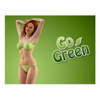 Go Green Girl Belle Postcard