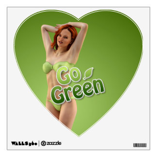 Go Green Girl Belle Wall Decal