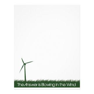 Go Green, Go Clean, Go Renewable Letterhead