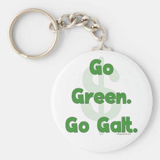 Go Green Go Galt Basic Round Button Keychain