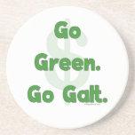 Go Green Go Galt Beverage Coasters