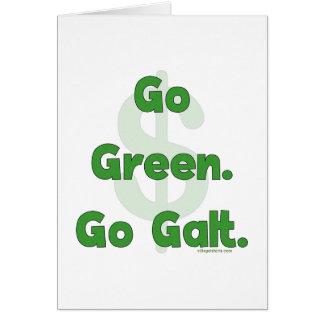 Go Green Go Galt Card