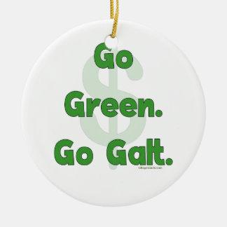 Go Green Go Galt Ceramic Ornament