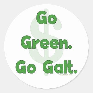Go Green Go Galt Classic Round Sticker