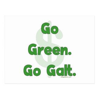 Go Green Go Galt Postcard