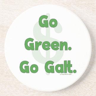 Go Green Go Galt Sandstone Coaster