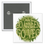 Go Green, Go Veg Buttons