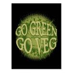 Go Green, Go Veg Postcard