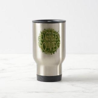Go Green, Go Veg Travel Mug