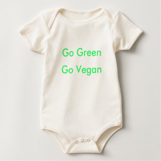 Go Green Go Vegan (pink back) Baby Bodysuit