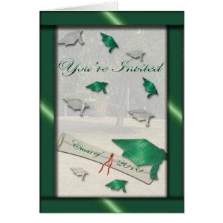 Go Green Graduation Invitation