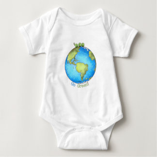 Go Green - Green Peace Earth Day Baby Bodysuit