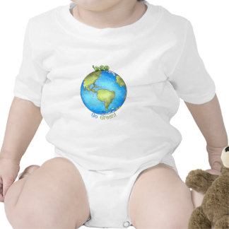 Go Green - Green Peace Earth Day Baby Creeper