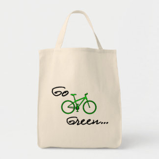 Go Green Grocery Tote - Eco Friendly Gift Grocery Tote Bag