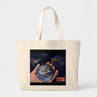 GO GREEN Handle with Love Shopping Tote Bag