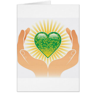 Go Green Hands Cards