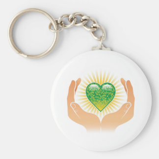 Go Green Hands Key Chains