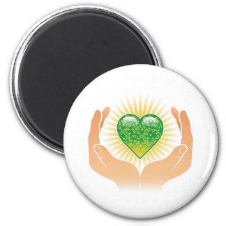 Go Green Hands Magnet