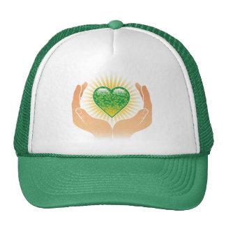 Go Green Hands Mesh Hats