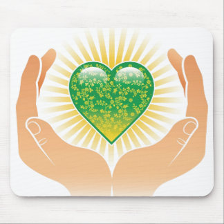 Go Green Hands Mouse Pad