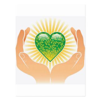 Go Green Hands Postcard