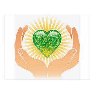 Go Green Hands Postcards