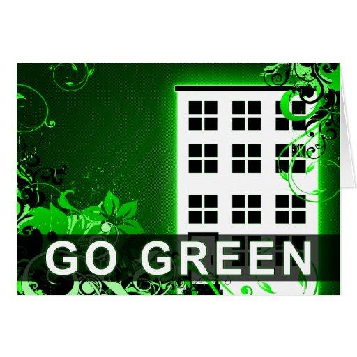 go green : hi-fi building greeting card