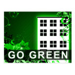 go green : hi-fi building postcard